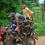 Firewood delivery.Stung Treng Province, Cambodia