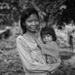 Mom and daughter.Stung Treng Province, Cambodia