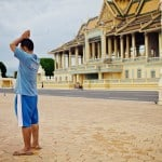 Morning in front of the palace.Phnom Penh, Cambodia