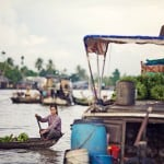 Phong Dien floating market.Can Tho Province, Vietnam.