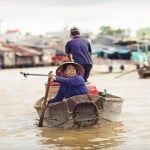 Can Tho floating market.Can Tho Province, Vietnam