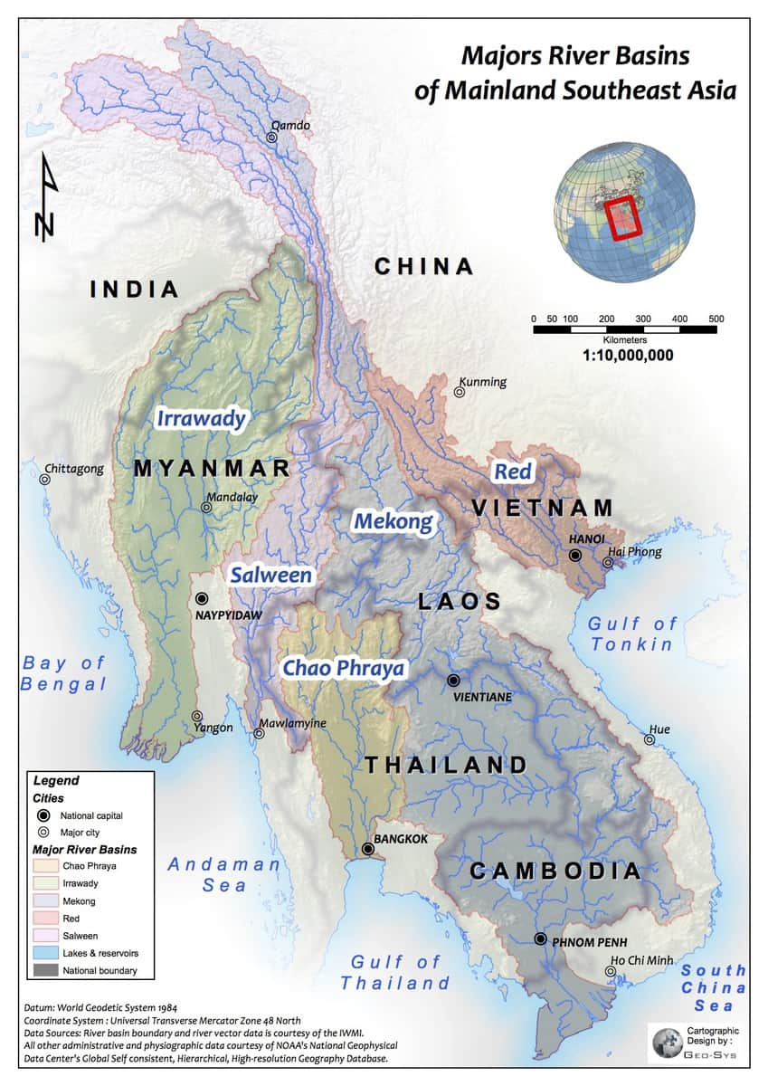 Dam Maps WLE Mekong - River system map