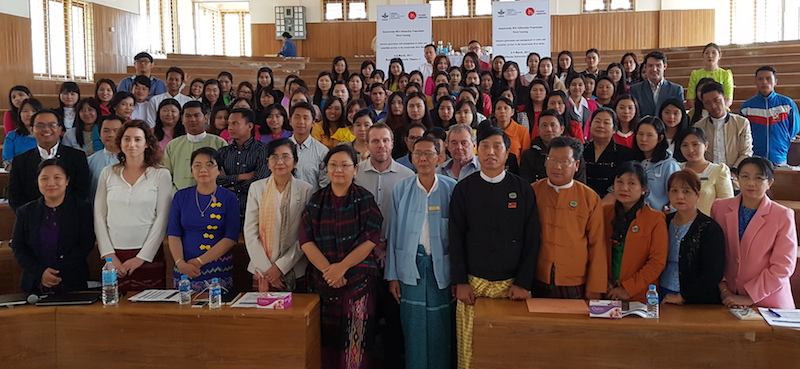 MK30 workshop participants at Myitkyina University, Kachin State, Myanmar. Photo by Ti Tant/Mandalay Technology.