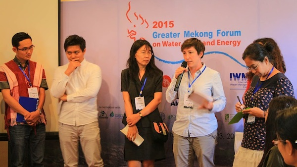 Fellows at the 2015 Greater Mekong Forum on Water, Food and Energy. Photo by Chawirakan Nomai.