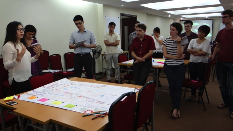Impressions from the gaming training in Hanoi. Photo credit: Maaike de Waele