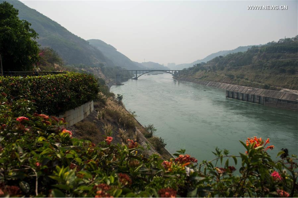 Lower reaches of Jinghong Hydropower Station in Dai Autonomous Prefecture of Xishuangbanna of southwest China's Yunnan Province, March 20, 2016. (Photo source: NEWS.CN)